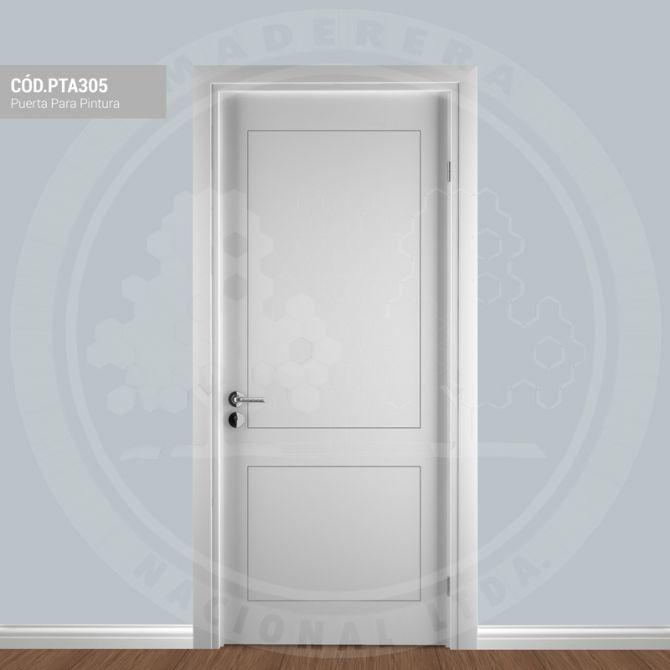 Puerta para pintura pta305 maderera nacional - Pintura para puertas ...